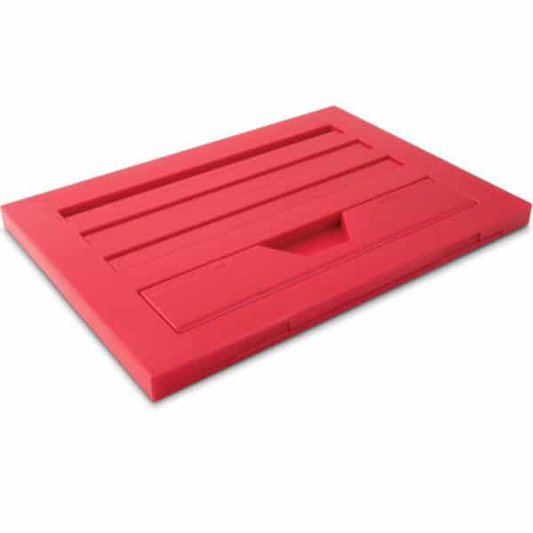 Kirjatuki Reading Rest tablettituki on mainio apu tabletin käyttöön tai kirjan lukemiseen, väri punainen. Kokoontaitettuna.