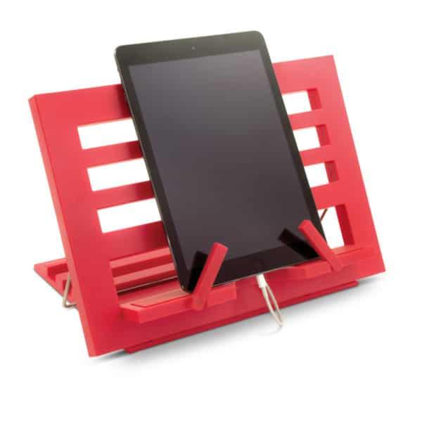 Kirjatuki Reading Rest tablettituki on mainio apu tabletin käyttöön tai kirjan lukemiseen, väri punainen. Paditelineenä.