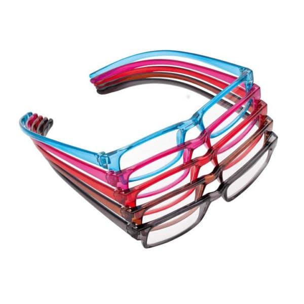 Loop-lukulaseissa on erikoispitkät, sisäänpäin kaareutuvat sangat. Lasit eivät putoa, vaikka seisoisit pää alaspäin. Kaarevien sankojen ansiosta lukulasit voi asetella kaulalle, kun niitä ei tarvitse. Siten niihin ei tarvitse erillistä kaulanauhaa.