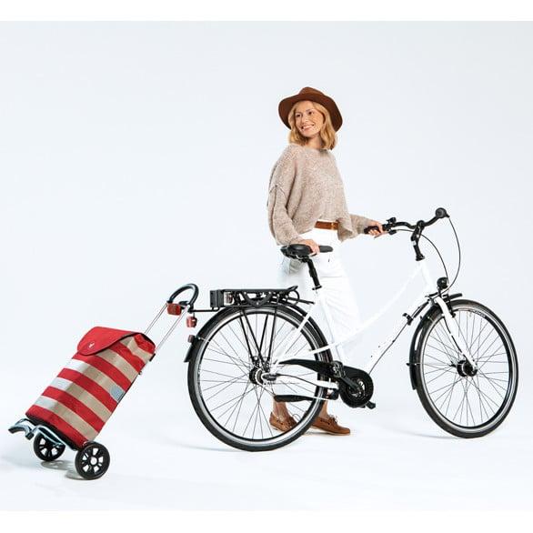 Ostoskarry andersen econo voi kiinnittää pyörään. Lisävaruste.