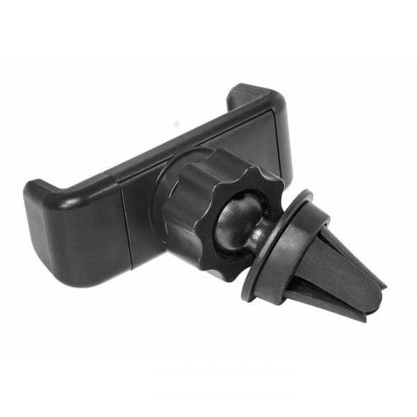 CLIP-IT älypuhelinteline autoon CLIP-IT teline on helppo ja nopea asentaa: telineen kumitulppa työnnetään auton tuulettimeen. Älypuhelin pysyy tukevasti telineessä pehmeäotteisen, jousimekanismilla toimivan puristimen ansiosta.