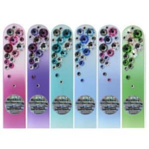 Kauniit ja kestävät lasiviila swarovski kristalleilla color -värillinen tausta ja koristeltu, taustan sävyisillä kristalleilla ettonet valikoima
