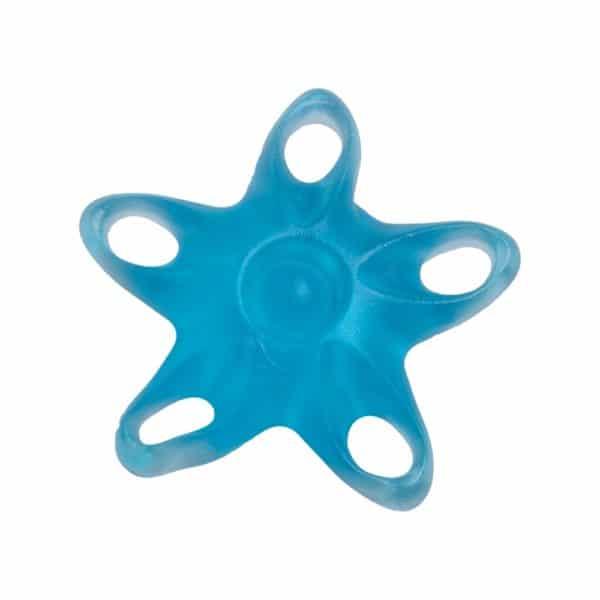 Sormien ja kämmenen lihasten vahvistamiseen tarkoitettu apuväline Meritähti, vahvuudeltaan vahva, väri sininen