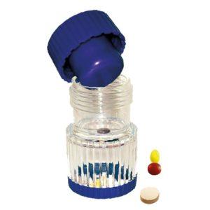 Tabletinmurskaaja jauhaa yksittäisen lääketabletin pienellä voimalla. Tabletti asetetaan murskaimeen ja kierretään korkista. Murskaajan toisessa päässä kätevä korkillinen tablettien säilytystila.