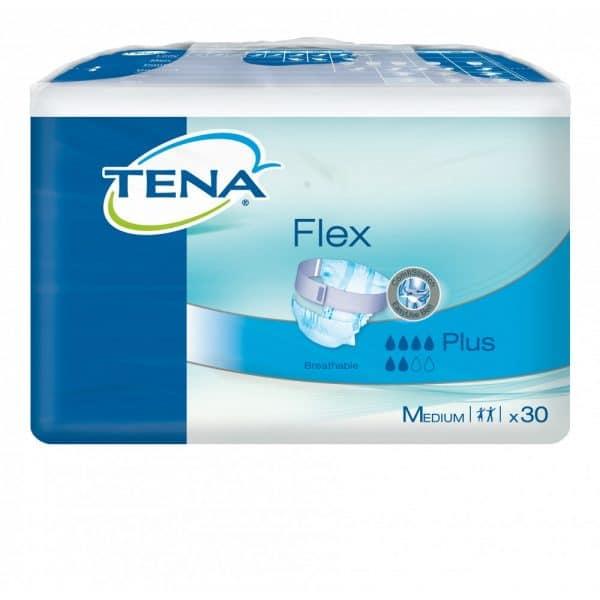 TENA Flex Plus ConfioAir™-ominaisuudella on täysin hengittävä ja dermatologisesti testattu. Se auttaa ihoa pysymään terveenä. ComfiStretch-vyökiinnityksen sekä säädettävien, leveiden kiinnitystarrojen ansiosta vaihtaminen on helppoa ja ergonomista. Erittäin imukykyinen kaksinkertainen imuydin takaa hyvän suojan myös yöksi. Hengittävä, kangasta muistuttava materiaali takaa, että suoja tuntuu miellyttävältä ja pehmeältä sekä on huomaamaton ja istuu hyvin.