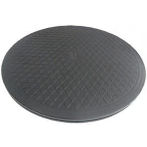 Kääntölevy lattiallle, kovaa muovia, Helpottaa esimerkiksi sängyltä pyörätuoliin siirtymistä.