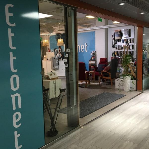 Ettonetin Lahden myymälä on kauppakeskus Triossa pohjakäytävällä Sinooperin vieressä ja vinoittain Terveyskioskia vastapäätä