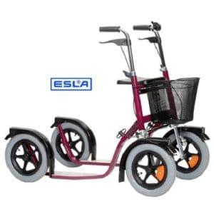 ketterä kaupunki potkupyörä Esla Citymax punainen