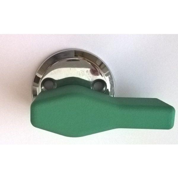 Vääntönupin apuväännin helpottaa oven avaamista.
