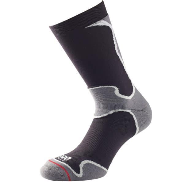 1000 mile fusion sport sock kaksikerrossukka, juoksusukka sisä- ja ulkoliikuntaan, ei rakkoja, väri musta