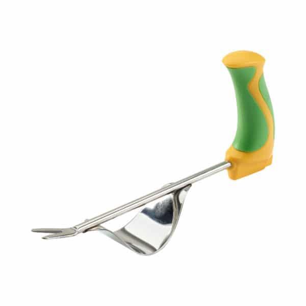Kätevä rikkaruohon kitkemistyökalu ergonominen Easi-Grip PGT2-W ei rasita rannetta puutarhassa työskennellessä