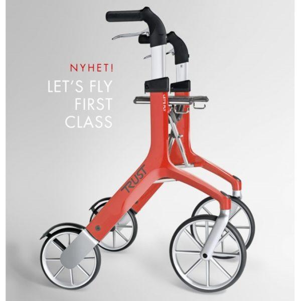 Let's Fly on suunnittelultaan ja toiminnoiltaan yksi maailman parhaista rollaattoreista. Se on valittu Saksassa suurilla apuvälinemessuilla messujen kauneimmin suunnitelluksi tuotteeksi.
