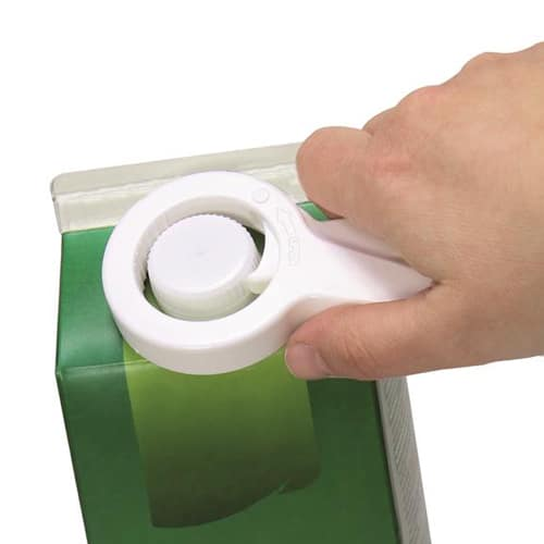 Avaaja muovisille kierrekorkeille. Sopii erikokoisille korkeille, pihtimäinen ote.