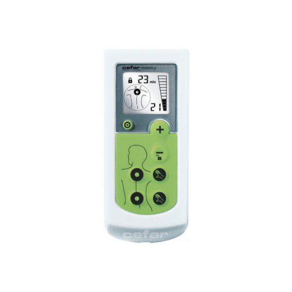 Lihasstimulaattori Cefar Easy antaa sähköimpulssihoitoa kipeille lihaksille.
