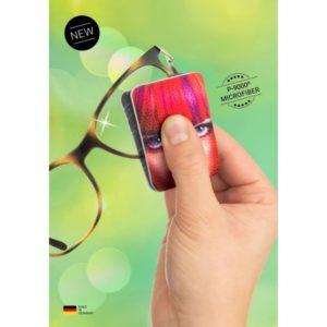 Pocketcleaner on silmälasien puhdistukseen tarkoitettu kaksinkerroin taitettu tyyny, jonka välissä linssin voi puhdistaa.