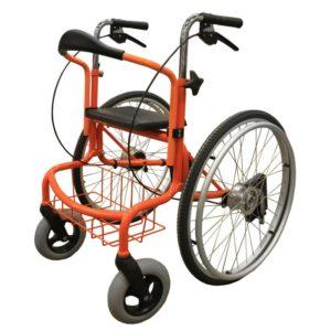 Rollaattori-pyörätuoli Wheellatoron yhdistetty rollaattori ja pyörätuoli