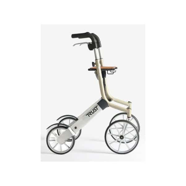 Rollaattori kävelyteline Let's Go Out on suunniteltu erityisesti ulkokäyttöön, mutta keveytensä, ketteryytensä ja pienen kokonsa ansiosta se sopii erinomaisesti käytettäväksi myös sisätiloissa. Väri beige