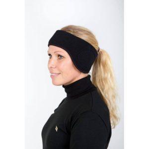 Otsapanta lämmintä fleeceä, hyvin muotoiltu, suojaa korvia ja niskaa.