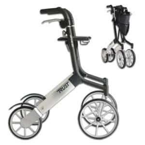 Rollaattori kävelyteline Let's Go Out on suunniteltu erityisesti ulkokäyttöön, mutta keveytensä, ketteryytensä ja pienen kokonsa ansiosta se sopii erinomaisesti käytettäväksi myös sisätiloissa. Väri musta