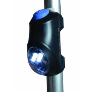 Valo Silverluxkävelykeppiin tai rollaattoriin. Helposti kiinnitettävä, 2 LED valoa, ei kompastu yöllä vessakäynnillä.