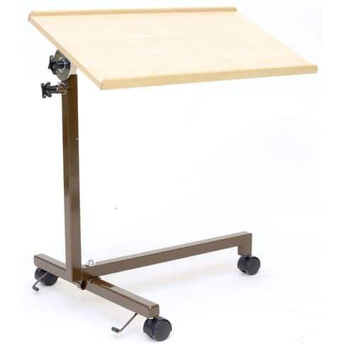 Apupöytä Esla 1-osainen. Siirrettävä apupöytä, jonka tason korkeutta ja kaltevuutta voi säätää.