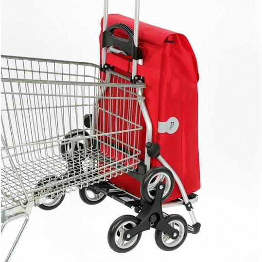 Ostoskärry Kiipijä porrasmalli Andersen on helppo ripustaa kauppojen ostosvaunuihin