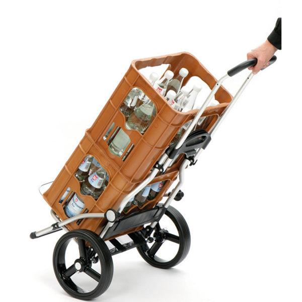 Ostoskärry Andersen Royal Shopper runko kätevä nokkakärry raskaiden laatikoiden kuljettamiseen