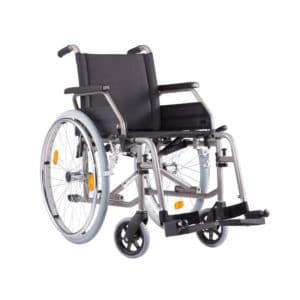 Pyörätuoli ECO 2 on kevyt ja tukeva pyörätuoli, jonka saa helposti kasaan. Istuinkorkeus 43 cm tai valittavissa.