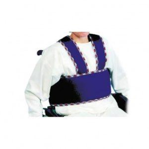 Mahavyö pyörätuoliin aikuiselle. Tukevaa polyesteriä, estää liukumasta alas pyöratuolissa.